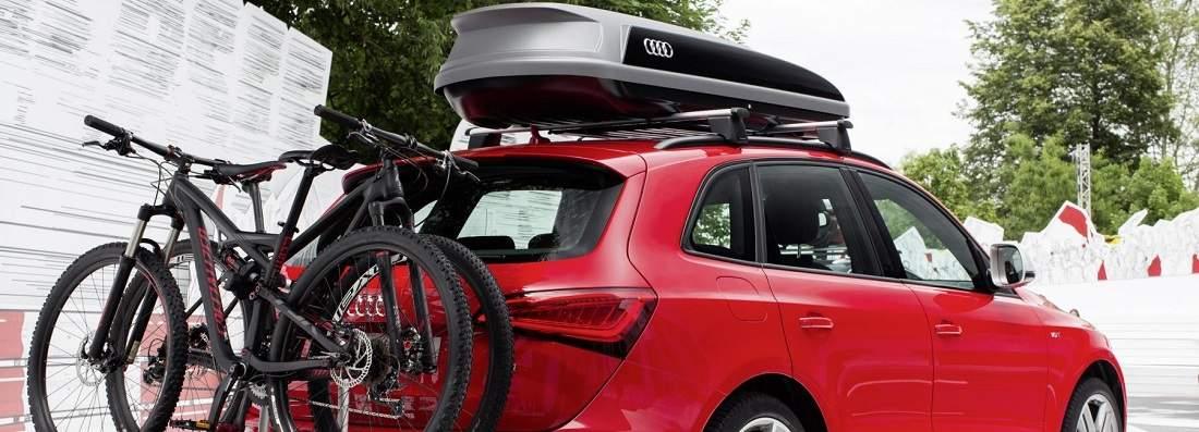 Porte vélo et coffre de toit