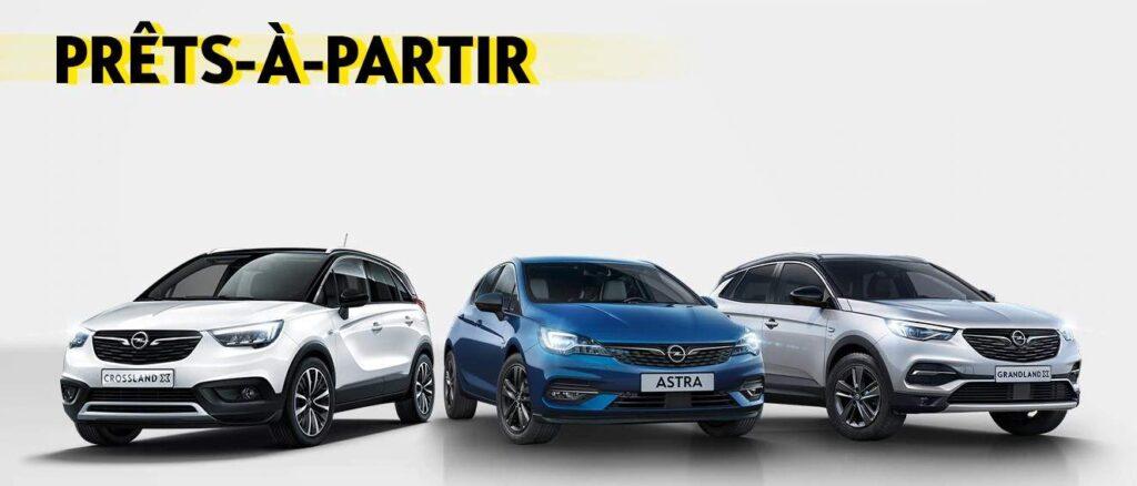 Gamme Opel neuve