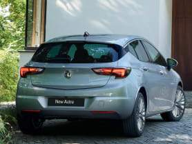 Vue arrière Opel Astra